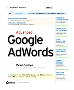 copertina libro Advanced Google Adwords