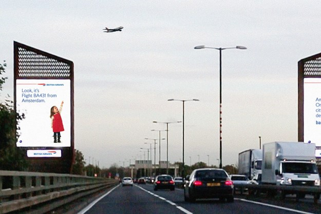 British Airways billboard